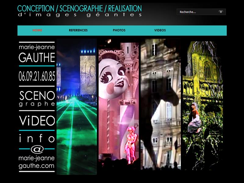 Site de Marie-Jeanne Gauthé, scénographe