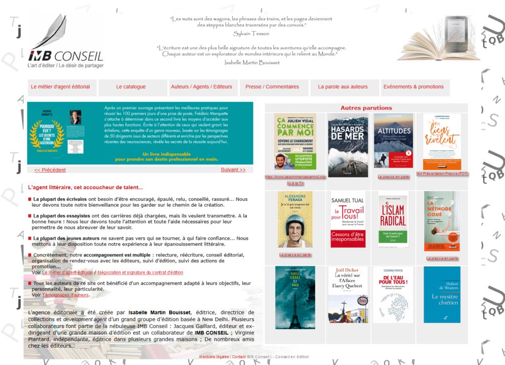Site de IMB Conseil, éditions